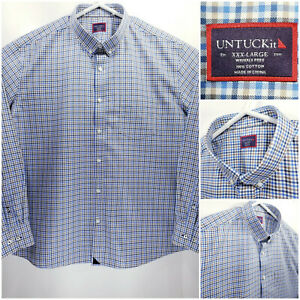 UNTUCKit-Mens-3XL-Wrinkle-Free-Shirt-Long-Sleeve-Button-Up-Multicolor-Check