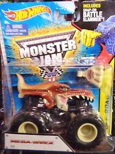2015 Hot Wheels Monster Jam Truck Mega Wrex Includes Battle Slammer