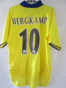 Arsenal-2002-2004-BERGKAMP-10-AWAY-FOOTBALL-SHIRT-piccoli-adulti-i-Mitraglieri-34694