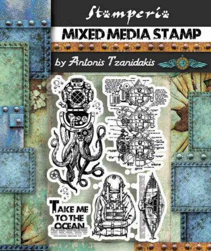Stamperia Octopus Stamp Set NEW