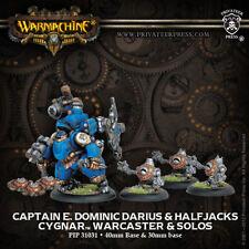 Warmachine: Cygnar Captain E. Dominic Darius + Halfjacks  PIP31031 NEW