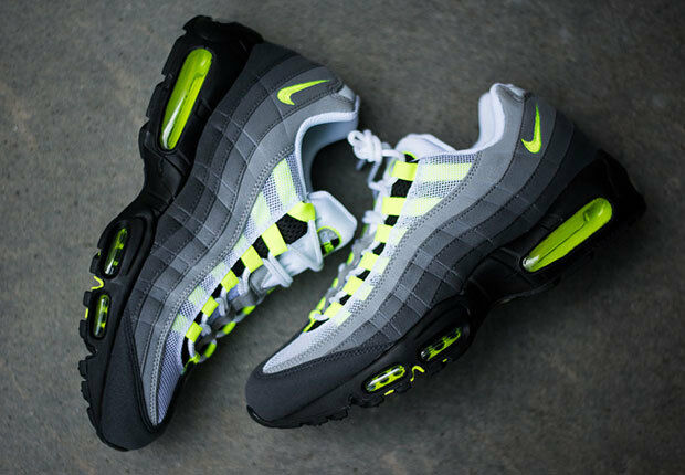 NIKE AIR MAX MAX MAX 95 OG TRAINERS US 10.5 NEON VOLT 1 90 97 BW TN SP 7a8662