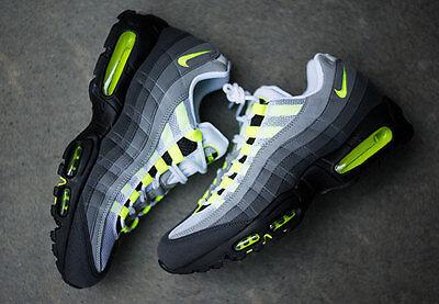 Nike AIR MAX 95 OG Scarpe Da Ginnastica UK 9.5 EUR 44.5 US 10.5 Neon Volt 1 90 97 BW TN SP | eBay