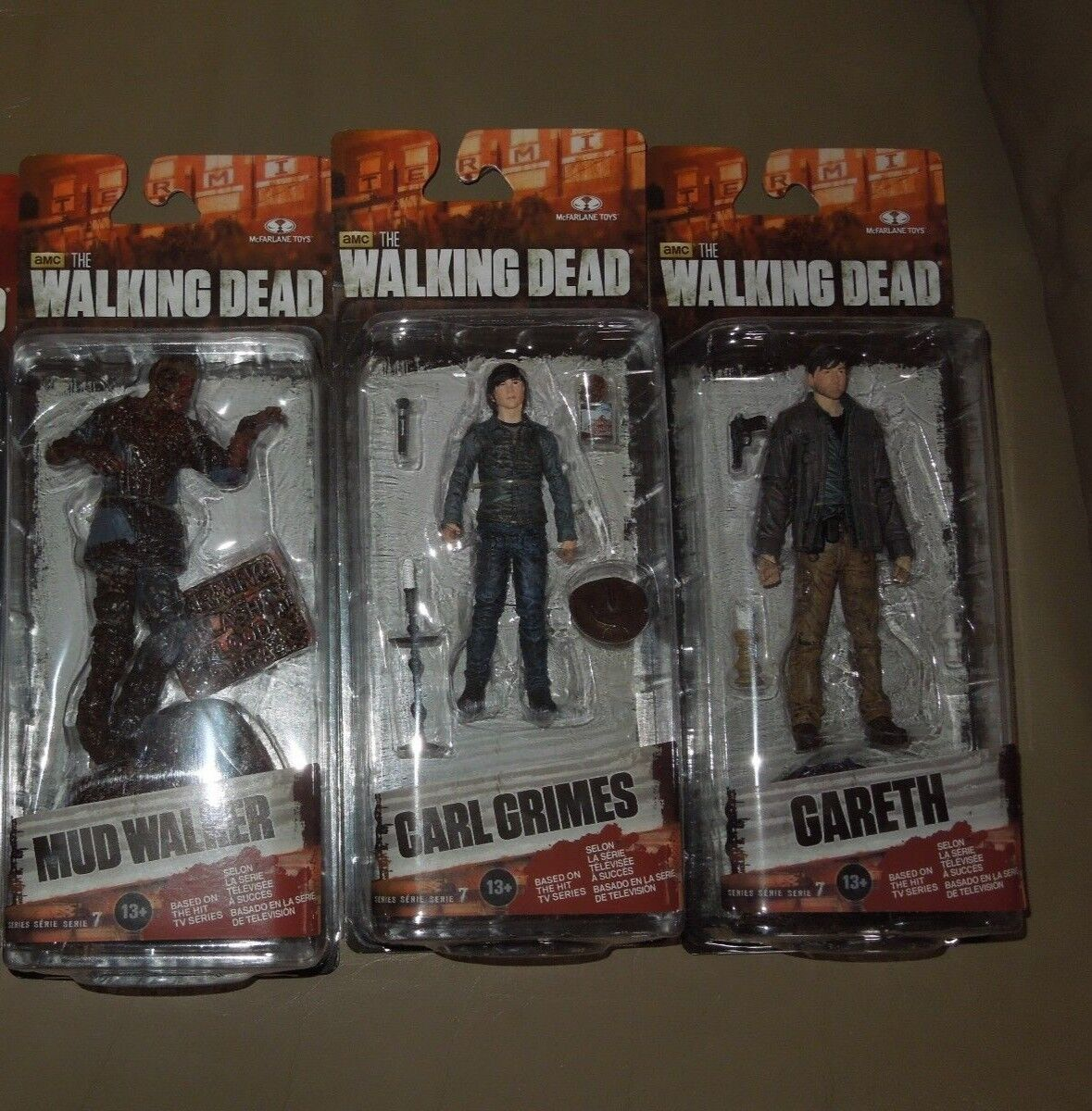The Walking Dead Series 7 Complete Set Lot Gareth Mud Walker Carl Michonne NIB