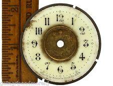 "Antique ANSONIA CLOCK CO. FACE/DIAL 2"" Ornate BRASS & PORCELAIN w/ Floral Motif"