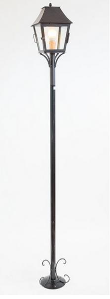 LAMPADE LINEA ESTRUSCA LAMPIONE CM. 200 LANTERNA CON SPORTELLO