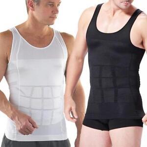 69013d26b4 Image is loading UK-Men-Slimming-Body-Shaper-Gynecomastia-Vest-Shirt-
