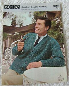 Patons-Vintage Knitting Pattern-Bracken Double Knitting | eBay