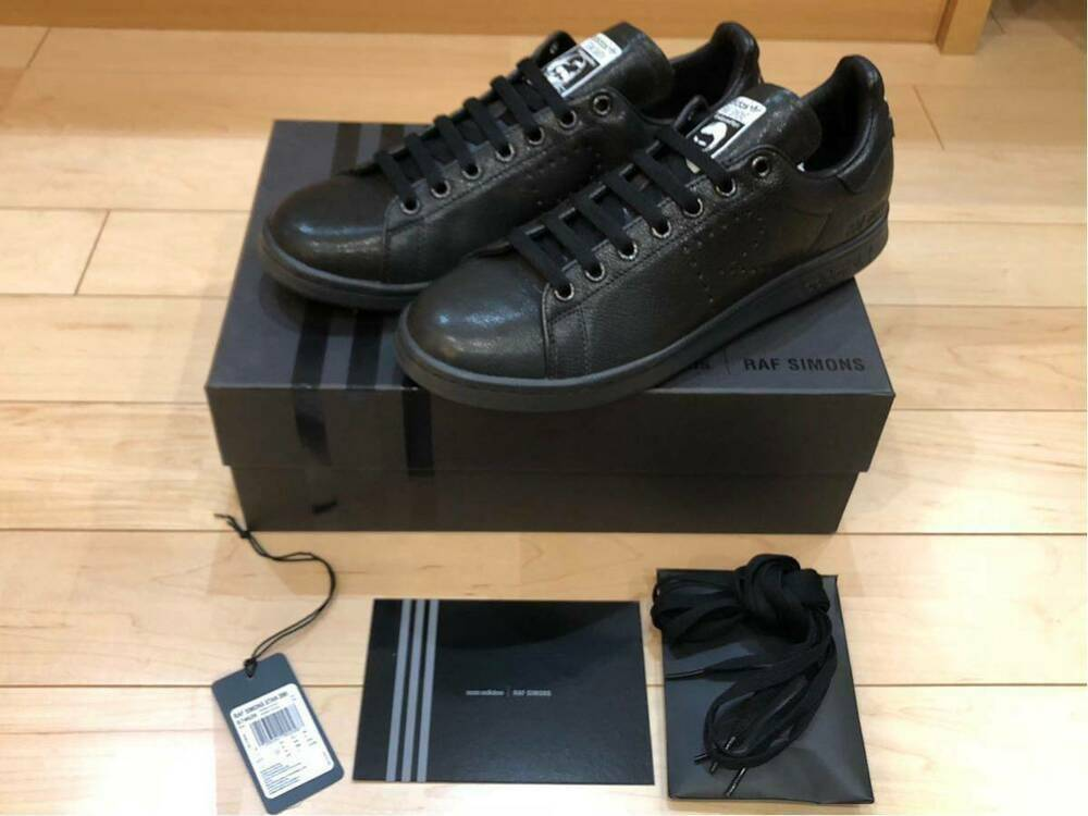 best service 2cd46 ee246 Adidas RAF SIMONS Stan Smith Aged Black Men s Sneakers Sneakers Sneakers  size US 10 b34552