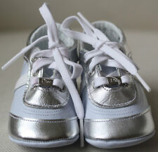BABY DIOR BLUE LEATHER PRE-WALKER TRAINERS EU 20 UK 4