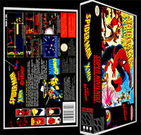 Spiderman X Men - Snes Reproduction Art Case/box No Game.