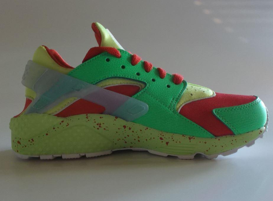 Nike Air Huarache Run ID Gr 38,5 ROT vt Einzelstück green volt 777330 994 Einzelstück vt 4f393f