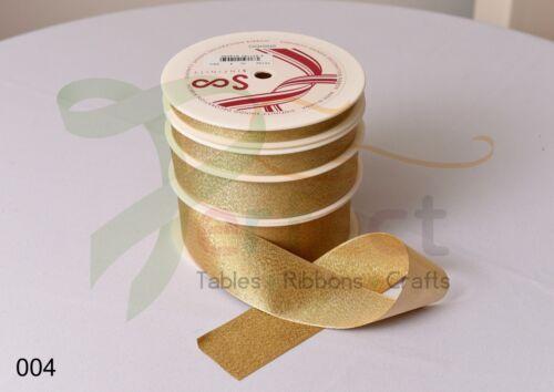 Shindo REVERSIBLE GLITTER  Ribbon Wedding Favours Crafts Metallic