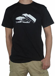 NEW-I-Sniff-Books-T-Shirt-Great-top-for-the-bookworm