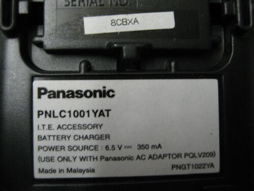 Panasonic PNLC1001YAT Phone Handset Charger With PQLV209 AC Adaptor