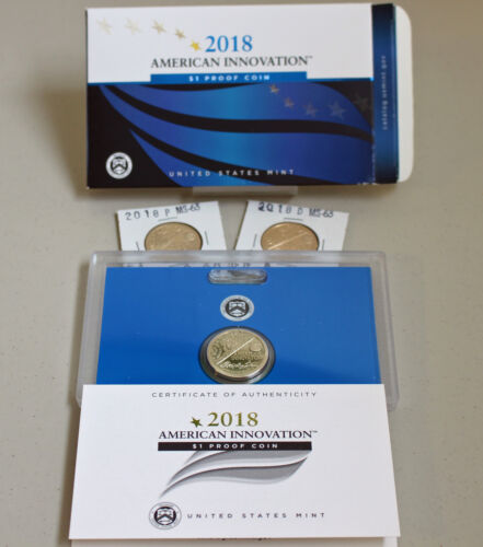 2018 PDS PROOF and UNCIRCULATED American Innovation Dollar 3 Coins New Series