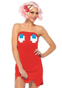 edc06adb209 Pac Man Ghost Dress Woman Halloween Costume by Leg Avenue Women M l ...