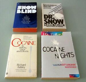 4 Books COCAINE NIGHTS COCA HISTORY FBI CRIME SMUGGLERS JG BALLARD PSYCHEDELIC