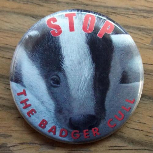 /'STOP THE BADGER CULL/' 50mm badge cub design