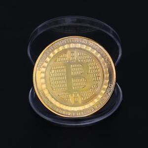 Bitcoin-Coin-Muenze-Miner-Medaille-Sammelmuenze-Sammlermuenze-Gedenkmuenze