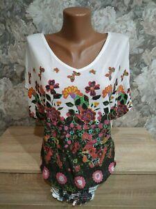 Desigual-Donna-T-shirt-Camicetta-Multi-Color-Taglia-S