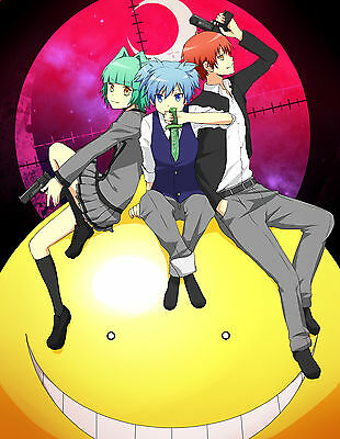 Poster 42x24 cm Koro Sensei Ansatsu Kyoushitsu Nagisa Karma Manga Anime 01