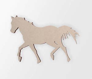 Wooden Shape Horse Trotting- Wooden Cut Out, Wall Art, Home Decor, Wall Hanging