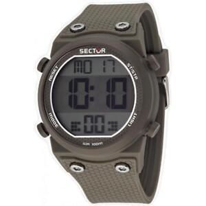 Orologio-Uomo-SECTOR-RAPPER-R3251582003-Silicone-Grigio-Chrono-Alarm-Digitale