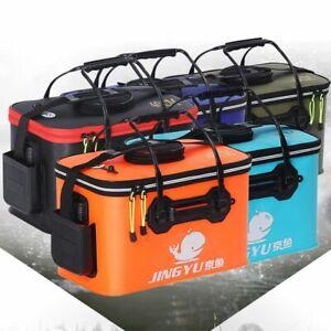 Portable Bag Fly Carp Handle Folding Collapsible Outdoor Barrel Fishing Bucket