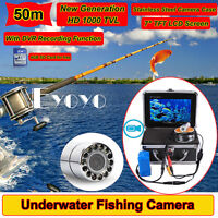 "4gb 50m 7"" Monitor 1000tvl Stainless Underwater Dvr Recording Camera Fish R2"