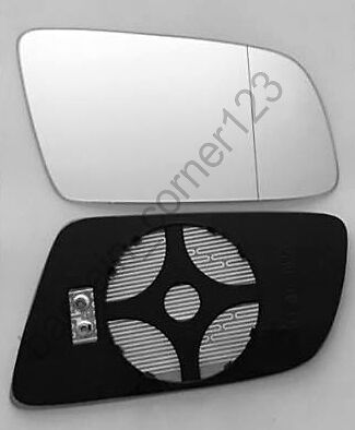 Right Driver Side Wing Mirror Glass HEATED ASPHERIC  BMW 5 E60 E61 03-10