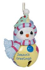 Precious Moments - Season's Greetings Snowman Jingle Bell Ornament #141044