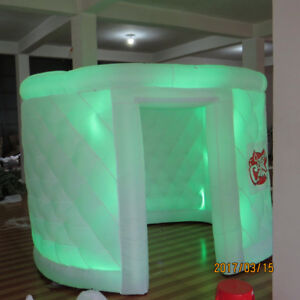 Inflatable-Oval-Photo-Booth-Air-Tent-Portable-Photobooth-w-LED-Lights-and-Blower