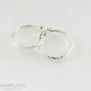 STERLING-SILVER-925-DECRETIVE-HOOP-EARRINGS