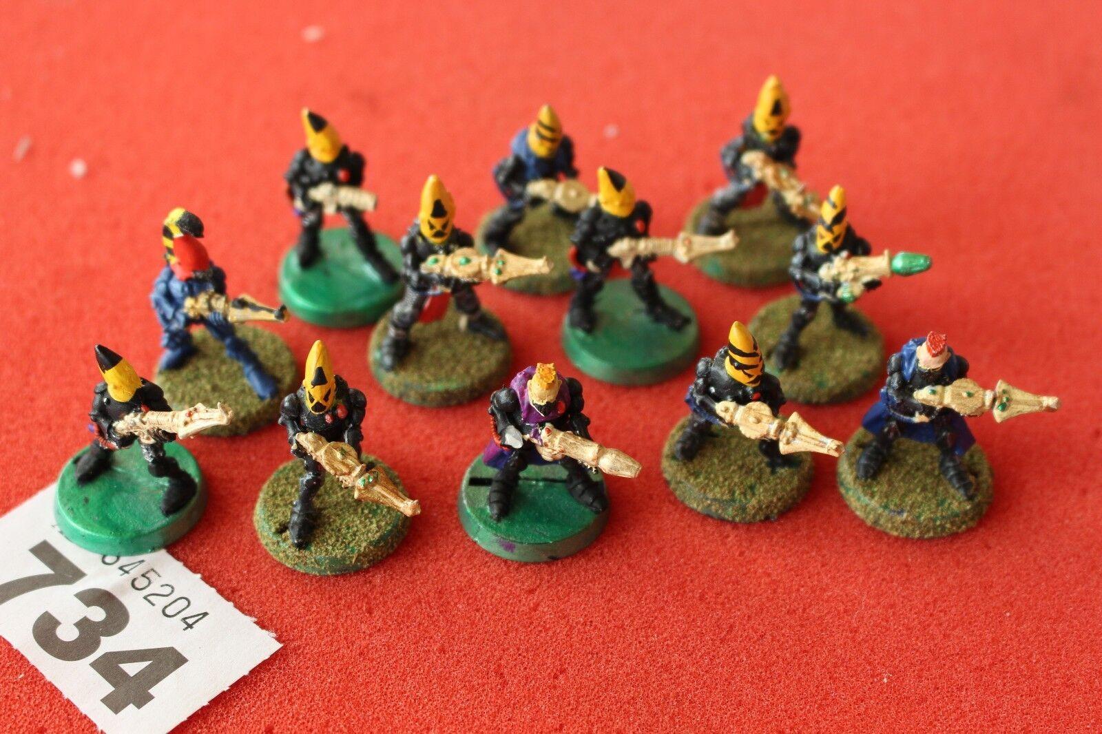 Games Workshop Warhammer 40k Rogue Trader Eldar Gardiens Squad metal figures
