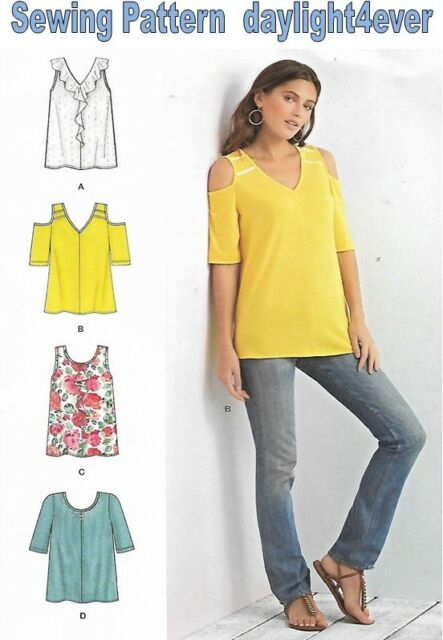 Simplicity Sewing Pattern 8337 A Misses Knit Tops Uncut Ebay