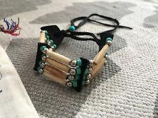 Boho Leather Bead Native Tribal Adjustable Cuff Bracelet & Free People Tote Bag