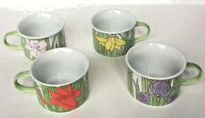Villa-Vanilla-Palm-Beach-Franci-Vintage-Mug-Set-4-Flower-Taste-Setter-Collection