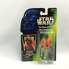 Star Wars POTF2/PONDA BABA Walrus Man Action Figure/Kenner 1996/Green HOLO Card