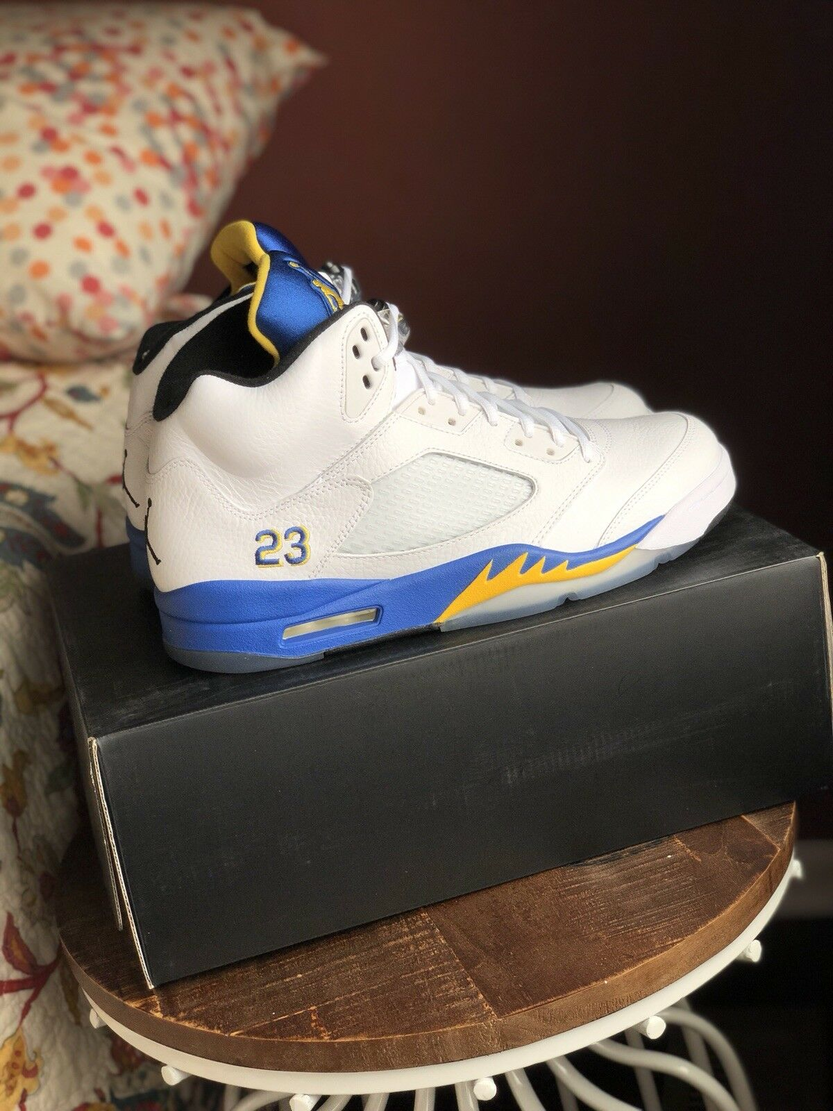 DS Nike Air Jordan 5 Laney 5 Shoes - Size 12 - Brand New With Receipt