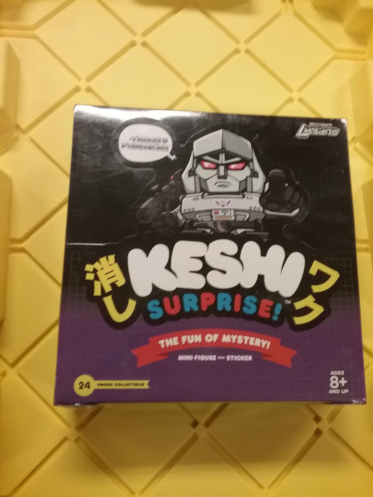 Transformers Keshi sorpresa 24 Contador de caja de presentación súper 7 Decepticon Megatron