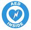 thumbnail 5 - AED Inside Circle Emblem Vinyl Decal Window Sticker Car