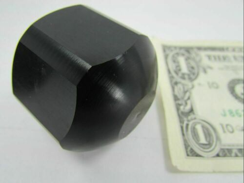 "3//8-16 Helicoil Bore Lot 2 Solid Aluminum Black Anodized Hex Knobs 1.500/"" Dia"