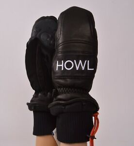 2019-NWT-HOWL-VINTAGE-MITT-Black-Snowboard-Glove-Heavy-Weight-Leather-Outer