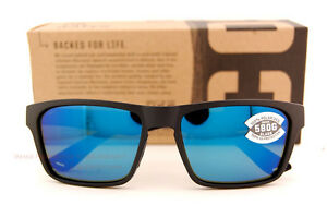 8fce09302f3 New Costa Del Mar Fishing Sunglasses HINANO Black Blue Mirror 580G ...