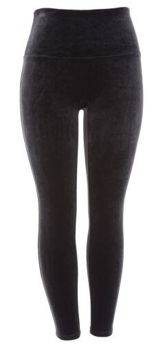 SPANX Black Velvet Leggings 7624 Size Large