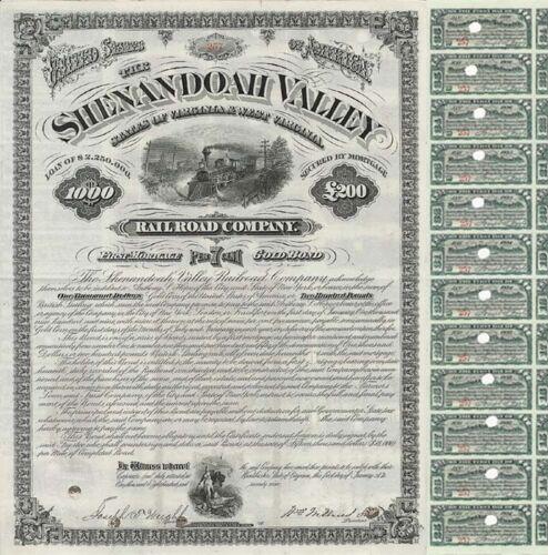 Shenandoah Valley Railroad Company Bond