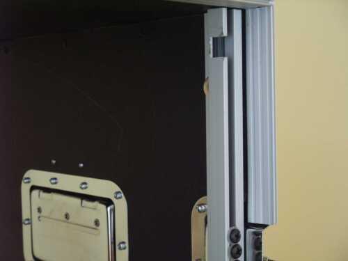 """Amprack DJ Rack Case Double Door 8 HE Effektrack 43cm tief 19/"""" CO DD schwarz"""