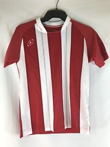 646115bf3 Image is loading Xara-Soccer-Jersey-Short-Sleeve-Shirt-Red-White-