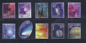 Japan-2018-Astronomy-Heavenly-Bodies-Complete-Used-Set-82Y-Sc-4186-a-j